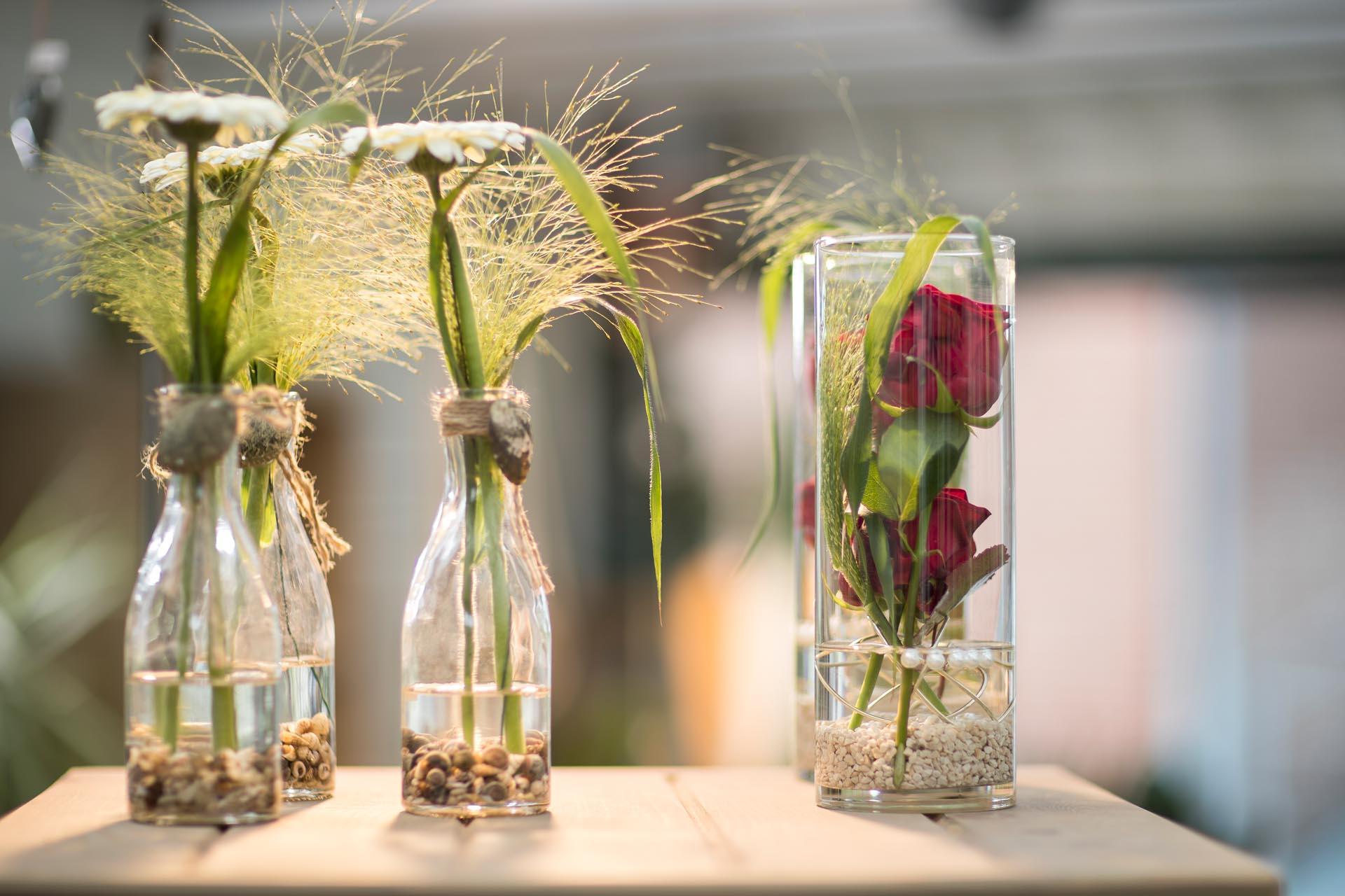 Tischschmuck Blumen Nibbrig